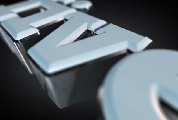 create a 3D HD white chrome logo or text