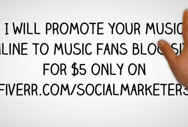 promote your music online to  music fans blog sites