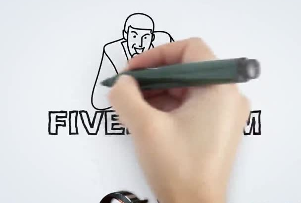 insert your info in this whiteboard drawn After Effects video TRAILER Book