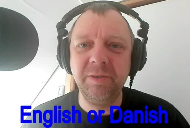 do a voice over in english or danish