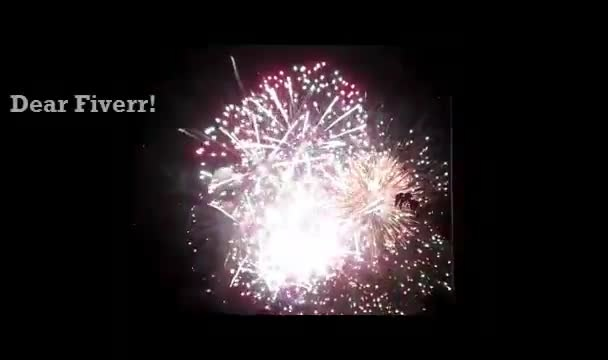 create a FIREWORKS show as a Happy Birthday or Congratulations greeting