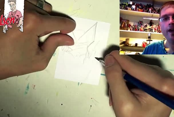 draw a cartoon sketchcard of any character