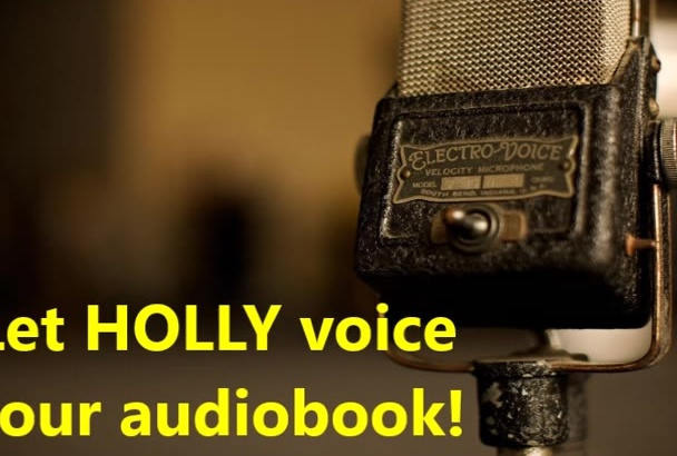 narrate 500 words of your AUDIOBOOK within 24 hours