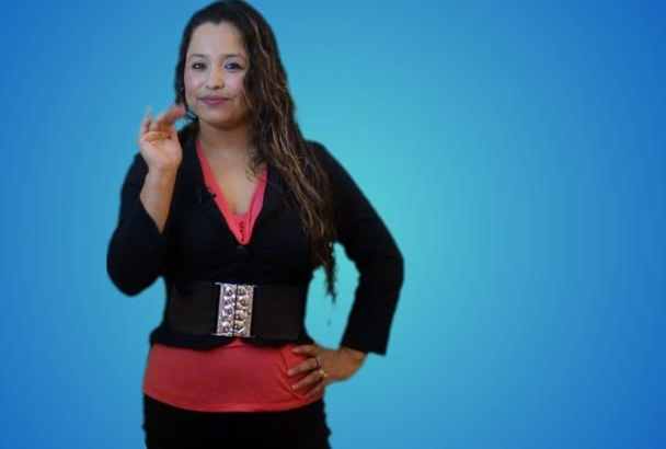 be your cute female presenter in Spanish