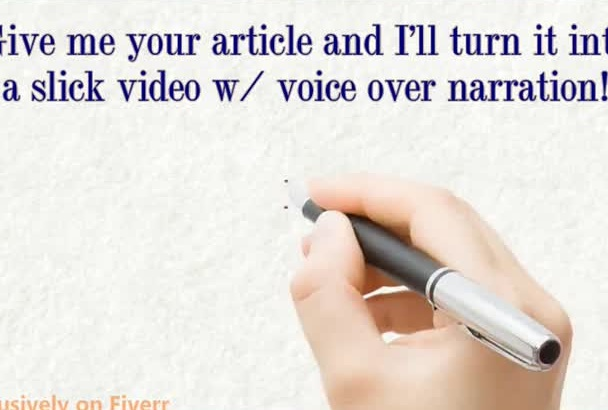 turn your text into a slick video with voiceover