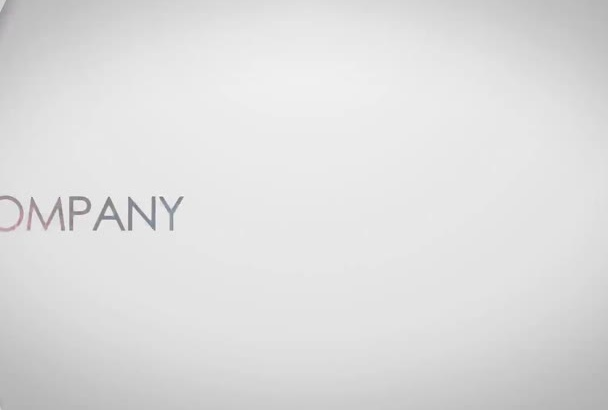 make a elegant corporate intro with your logo