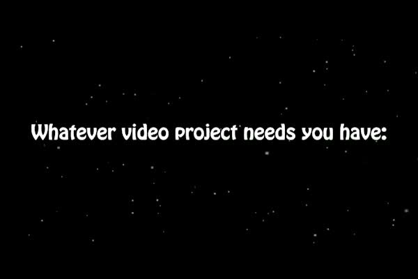 professionally edit your films and web videos