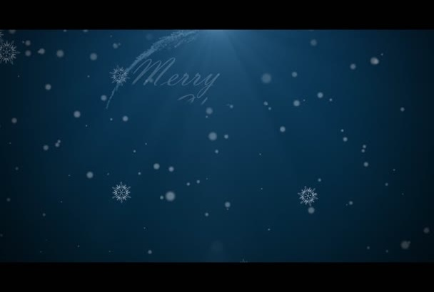 create a Christmas and happy new year video for you