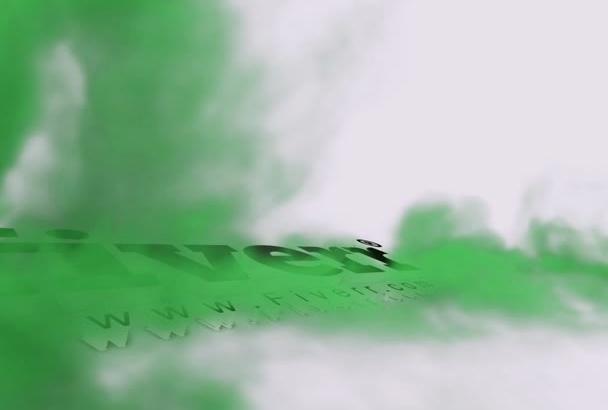 create 3D Smoky Logo Intro Video 24hrs