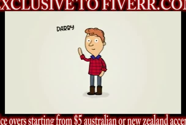 real Australian New Zealand accent voice over