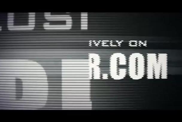 create a glitch logo video intro