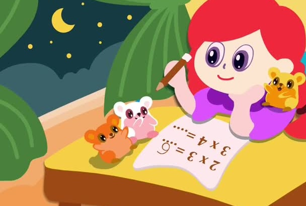 draw cartoon illustration for kid story