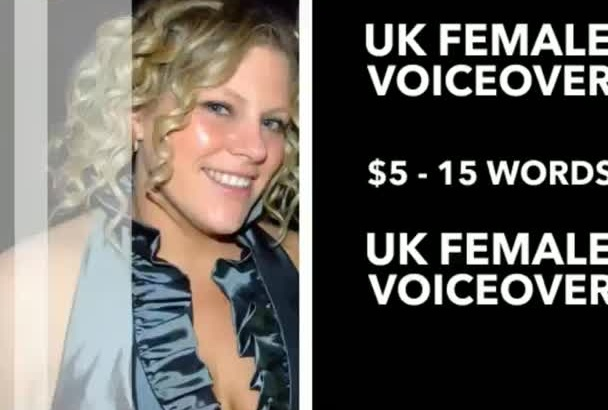 record a British voice over