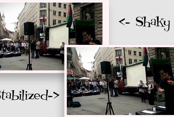 stabilise your Handheld shaky footage using 3D track