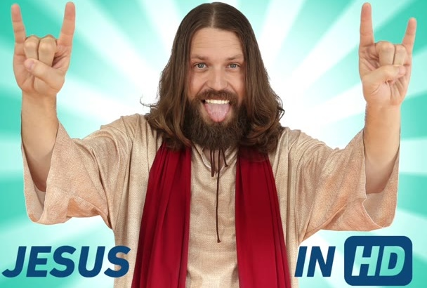 have Jesus rock out to ANY song and praise it in video