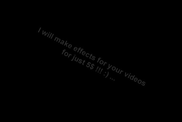 edit your video with cool effects