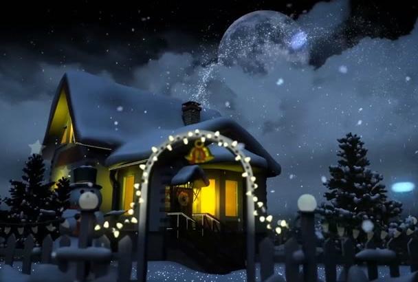 make awesome christmas animation or holiday greeting video