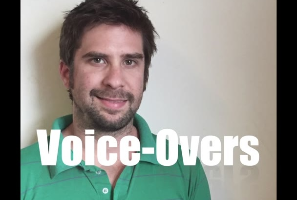 record a natural American voice over within 24 hrs