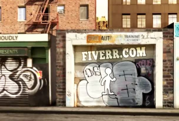 customize inkman walking on the city streets in 4 hrs 2Ver