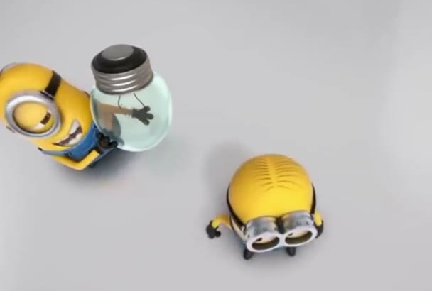 minion Funny intro for your logo and advert it