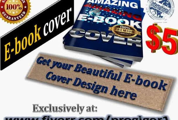 create a beautiful three d  Ebook cover for you