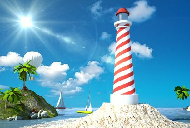 produce travel agency video, summer vacation, 3D intro or opener