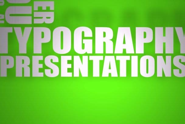 create KINETIC typography video