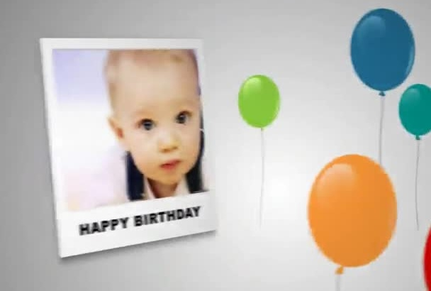 make you this COLORFULL Birthday Video show