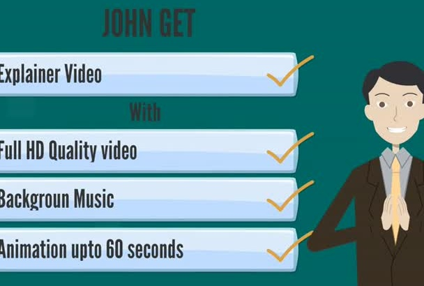 do an awesome animated EXPLAINER video in 24Hrs