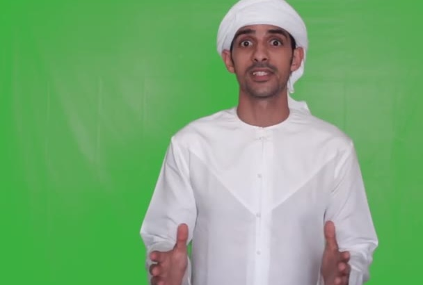 do a video testimonial in UAE dress