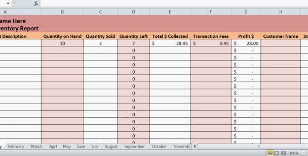 create a weekly inventory report