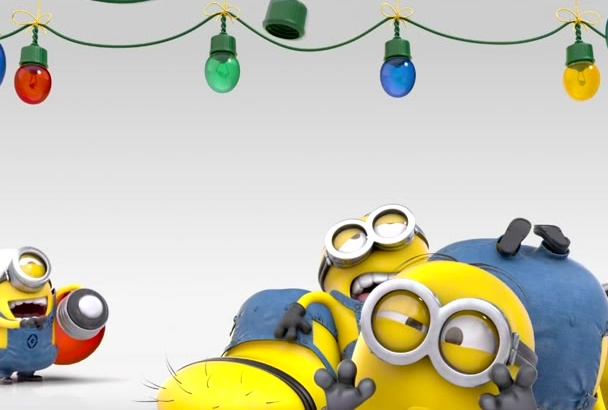 put your text and logo in this funny HD Holiday Minion Video