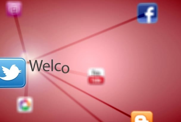 create awesome social network animation