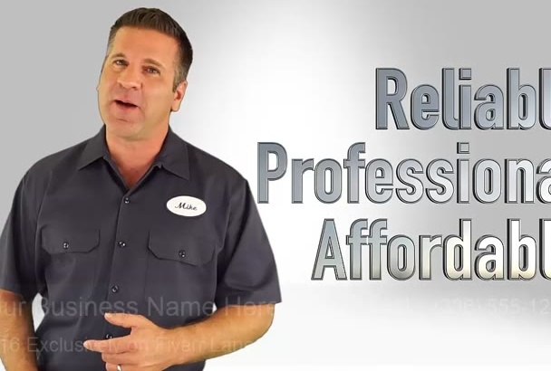 customize a Video Especially for Local Plumbers