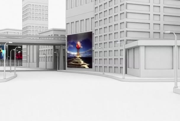 add anything on 3D City Billboard Video