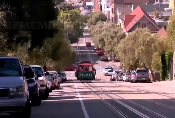 place whatever you want on San Francisco cable car