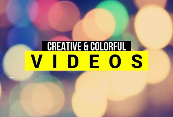 create a colorful kinetic text video animation