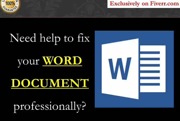 improve your WORD documents with best format style