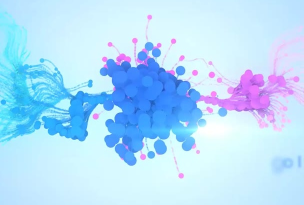make this beautiful particle intro