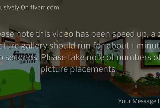 create a 3D virtual gallery video