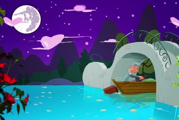 provide valentine day cartoon animation