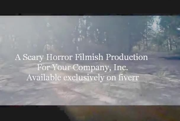 produce your commercial like a horror movie trailer
