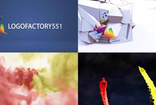 create beautiful logo animation video intro