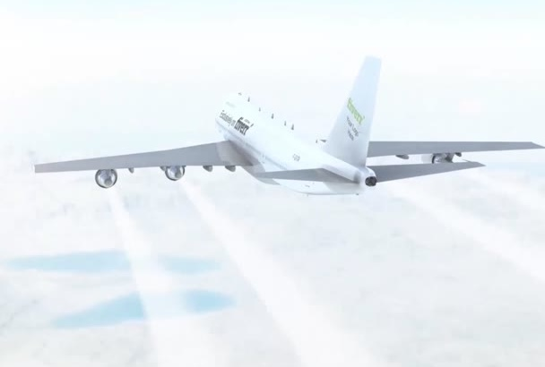 add your Logo or Text on a flying Boeing plane