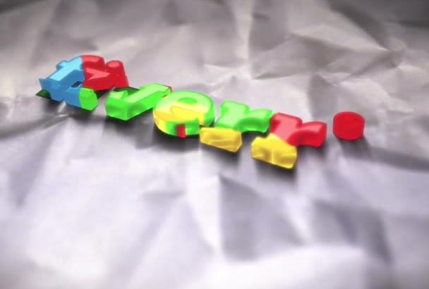 hacer un video intro logo de colores