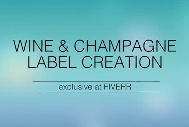 put your logo or message in wine champagne label