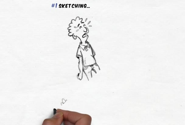 create logo including comic drawn characters