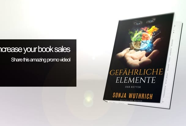 create a book advertisement animation