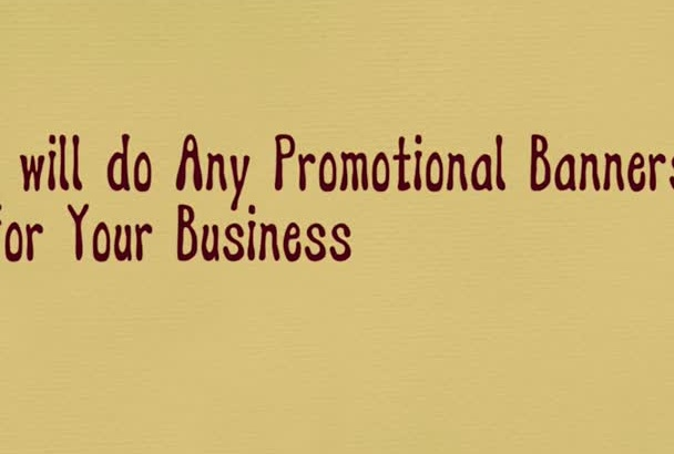 create a promotional animated banner within 24 hrs