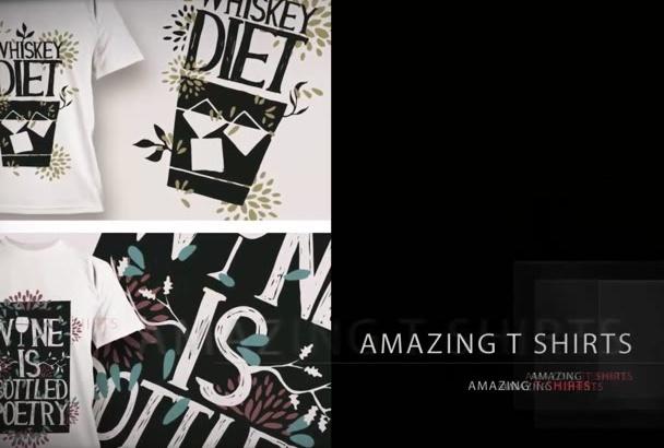 create a super cool T SHIRT design